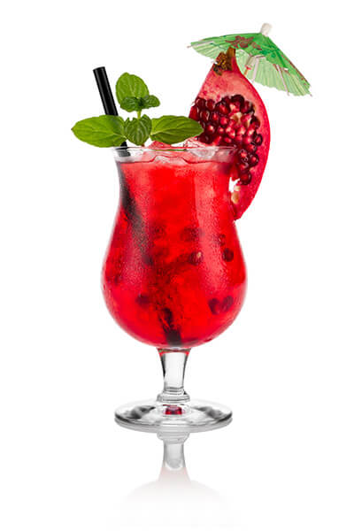 Pomegranate Italian Soda